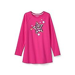 Lands' End - Girls' pink embellished raglan legging top