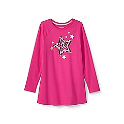 Lands' End - Girls' pink embellished raglan legging top
