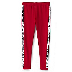 Lands' End - Girls' red cosy sparkle leggings