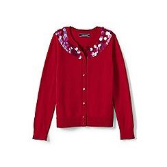 Lands' End - Girls' red sophie cardigan