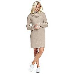 Lands' End - Beige luxe merino blend sweater dress