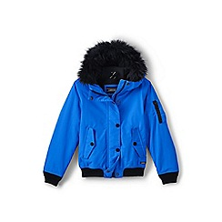 Lands' End - Girls' blue squall bomber jacket