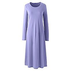 Lands' End - Purple supima long sleeve nightdress