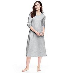 Lands' End - Grey supima long sleeve nightdress