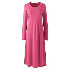 Lands' End - Pink supima long sleeve nightdress
