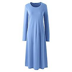 Lands' End - Blue supima long sleeve nightdress
