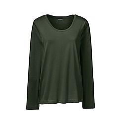 Lands' End - Green scoop neck supima t-shirt