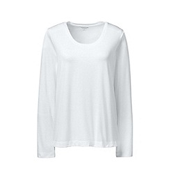 Lands' End - White scoop neck supima t-shirt