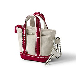 Lands' End - Red tote bag keychain