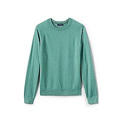 Lands' End - Green cotton blend crew neck jumper