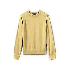 Lands' End - Yellow cotton blend crew neck jumper