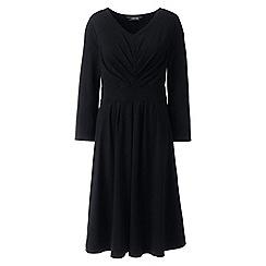 Lands' End - Black ruched bodice jersey dress