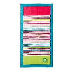 Christy - Pink 'New Haven Stripe' Beach towel
