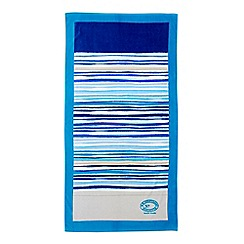 Christy - Blue 'New Haven Stripe' Beach towel