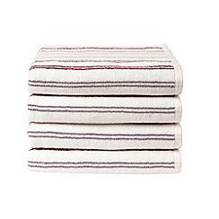 Christy - Pink 'Candy Stripe' towels