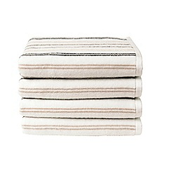 Christy - Neutral 'Candy Stripe' towels