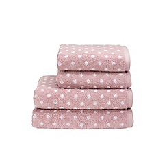 Christy - Orchid 'Georgia Spot' towels
