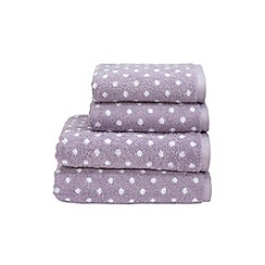 Christy - Lavender 'Georgia Spot' towels