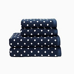 Christy - Navy 'Georgia Spot' towels