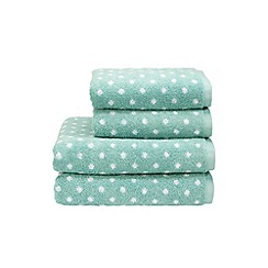 Christy - Aqua 'Georgia Spot' towels