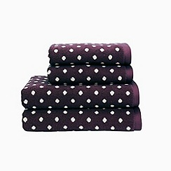 Christy - Aubergine 'Georgia Spot' towels