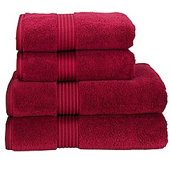 Christy - Cherry 'Supreme' towels