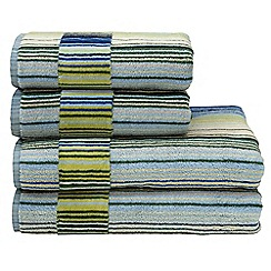 Christy - Blue 'Capsule Stripe' towels