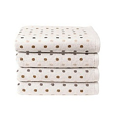 Christy - Neutral 'Candy Spot' towels
