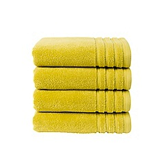 Christy - Chartreuse 'Panama' towels