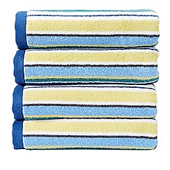 Christy - Blue 'Portobello Stripe' Towel