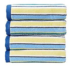 Christy - Blue 'Portobello Stripe' Towel