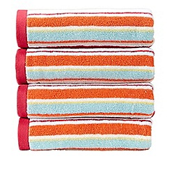 Christy - Deep Pink 'Portobello Stripe' Towel