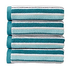 Christy - Aqua 'Portobello Stripe' Towel