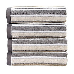 Christy - Neutral 'Portobello Stripe' Towel
