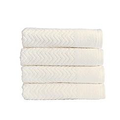 Christy - White 'Chevron' 550gsm cotton bath towel
