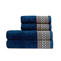Christy - Petrol 'Movida' 600gsm cotton bath towel