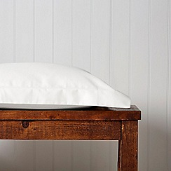 Christy - White 'Satin Plain Dye' pillow case
