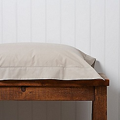 Christy - Stone '200 Plain Dye' fitted sheet