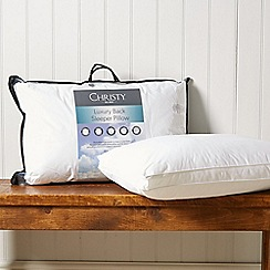 Christy - 'Back Sleeper' hollowfibre pillow