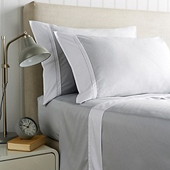 Christy - Silver 'Hotel' 300 thread count cotton sateen flat sheet set