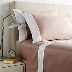 Christy - Pink 'Hotel' 300 thread count cotton sateen flat sheet set