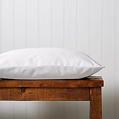 Christy - Silver 'Satin Plain Dye' oxford pillow case pair