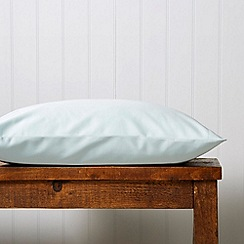 Christy - Seafoam 'Satin Plain Dye' oxford pillow case pair