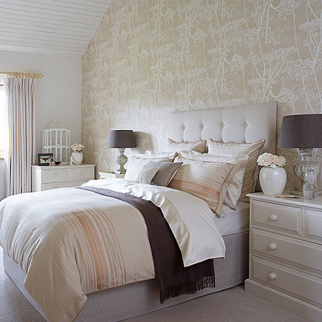 Christy - Caramel +Silk stripe+ bed linen