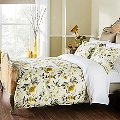 Christy - Ochre 'Orchid' bed linen
