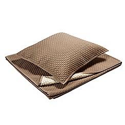 Christy - Walnut 'Loops' pillow sham