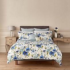 Christy - Blue 'Poppy' duvet cover and pillow case