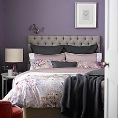 Christy - Pink 'Victoria' 200 thread count cotton percale duvet set