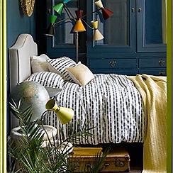 Christy - Blue 'Clifton' 200 thread count cotton percale duvet set