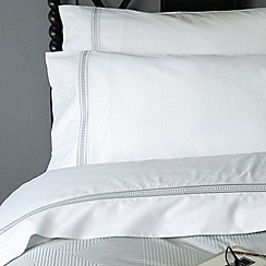 Christy - Steel 'Ladder' 300 thread count cotton sateen flat sheet set